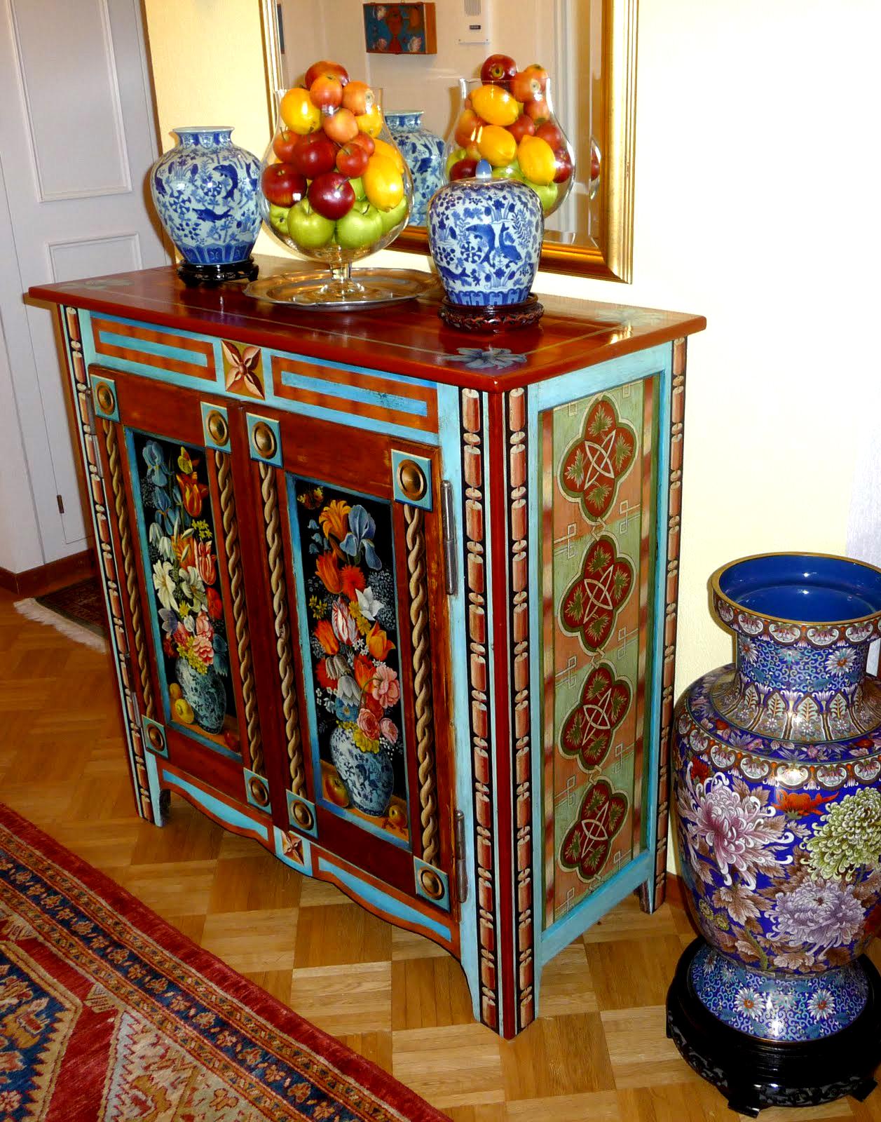 meubles peintsmichaela barasky michaela barasky. Black Bedroom Furniture Sets. Home Design Ideas