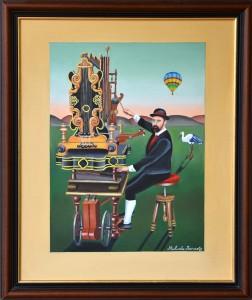 Joueur d'orgue en Alsace